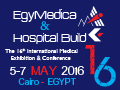 EgyMedica 2016 on 05-07 May, 2016 at Cairo Convention Center, Cairo, Egypt.