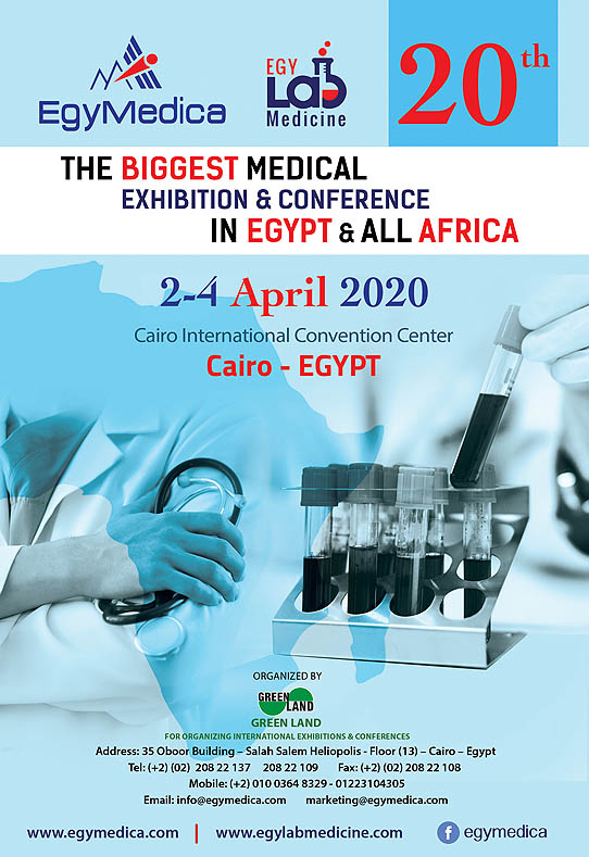 EgyMedica 2018 on 3-4 May, 2018 at Cairo Convention Center, Cairo, Egypt.