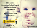 28th World Neonatal, Pediatric and Family Medicine Conference on March 21-22, 2019 in Dubai, UAE.