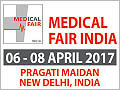 Medical Fair India 2017 on April 6-8, 2017 in New Delhi, India.