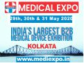 Medical Expo India 2020 - Focused on Medical Equipment, Diagnostic Equipment and Lab Devices will be held from 29-31 May, 2020 in Science City, Kolkata, West Bengal, India.
