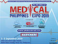 Philippine's Most Complete Medical Technology, Dental Technology, Laboratory Technology and Pharmaceutical Event from 3-5 September, 2019 at SMX Concention Center Manila, Mall of Asia Complex, Passay City, Philippines.