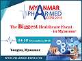 MYANMAR PHARMED EXPO 2018 on December 14-16, 2018 - 6th International Exhibition & Conference on Medical and Pharmaceutical Industry for Myanmar will be held at Myanmar Convention Center (MCC), Myanmar.