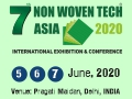 7th Non Woven Tech Asia 2020 on 5-7, 2020 at Pragati Maidan, New Delhi, India.