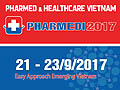 PHARMEDI 2017 - PHARMED & HEALTHCARE VIETNAM 2017 on September 20-23, 2017 at SECC, HCMC, Vietnam.