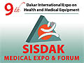 The 9th edition of International Expo, SISDAK 2018, on July 18-21, 2018 for health and medical equipment is scheduled to be held at CICES in Dakar, Senegal.