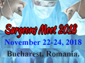 Surgeons Meet 2018 - World Congress on Surgeons from November 22-24, 2018 in Bucharest, Romania.
